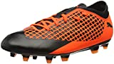 Puma Unisex-Kinder Future 2.4 FG/AG JR Fußballschuhe, Schwarz Black-Shocking Orange 02, 28 EU
