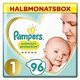 Pampers Premium Protection New Baby Windeln, Gr. 1, 2-5 kg, Halbmonatsbox, 1er Pack (1 x 96 Stück)