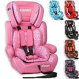 KIDUKU Autokindersitz Kindersitz Kinderautositz, Sitzschale, universal, zugelassen nach ECE R44/04, in 6 verschiedenen Farben, 9 kg - 36 kg 1-12 Jahre, Gruppe 1/2 / 3 (Rosa/Pink)