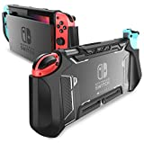 Mumba Hülle für Nintendo Switch Robuste Schutzhülle Hybrid TPU Griff Case Cover [Blade Series] Kompatibel mit Nintendo Switch Console und Joy-Con Controller (Schwarz)