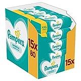 Pampers Sensitive Feuchttücher 15 Packungen (15 x 80 Stück)