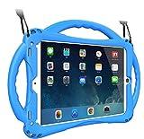 TopEsct iPad 9.7 inch Case Kinder, Anti-Shock Stoßfest Griff Ständer Schutzhülle für iPad 5th/6th(2018/2017 Ausgabe),iPad Air,iPad Air 2 und iPad Pro 9.7(iPad9.7,Blau)