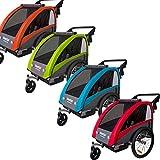 Veelar Sports 2 in 1 Kinderanhänger Fahrradanhänger Anhänger mit Buggy Set + Federung BT603 (ROT)