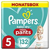 Pampers Baby-Dry Pants, Gr. 5, 12kg-17kg, Monatsbox (1 x 132 Pants)