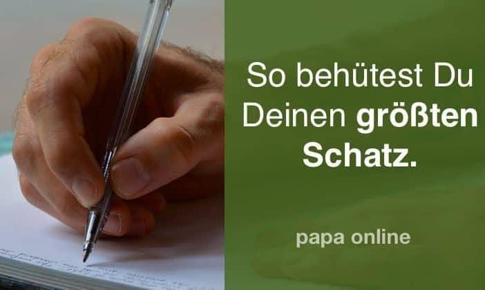 Tagebuch für Väter