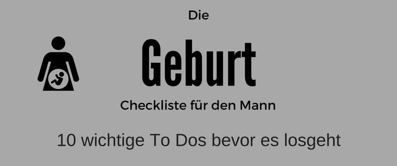 Geburt Checkliste Download